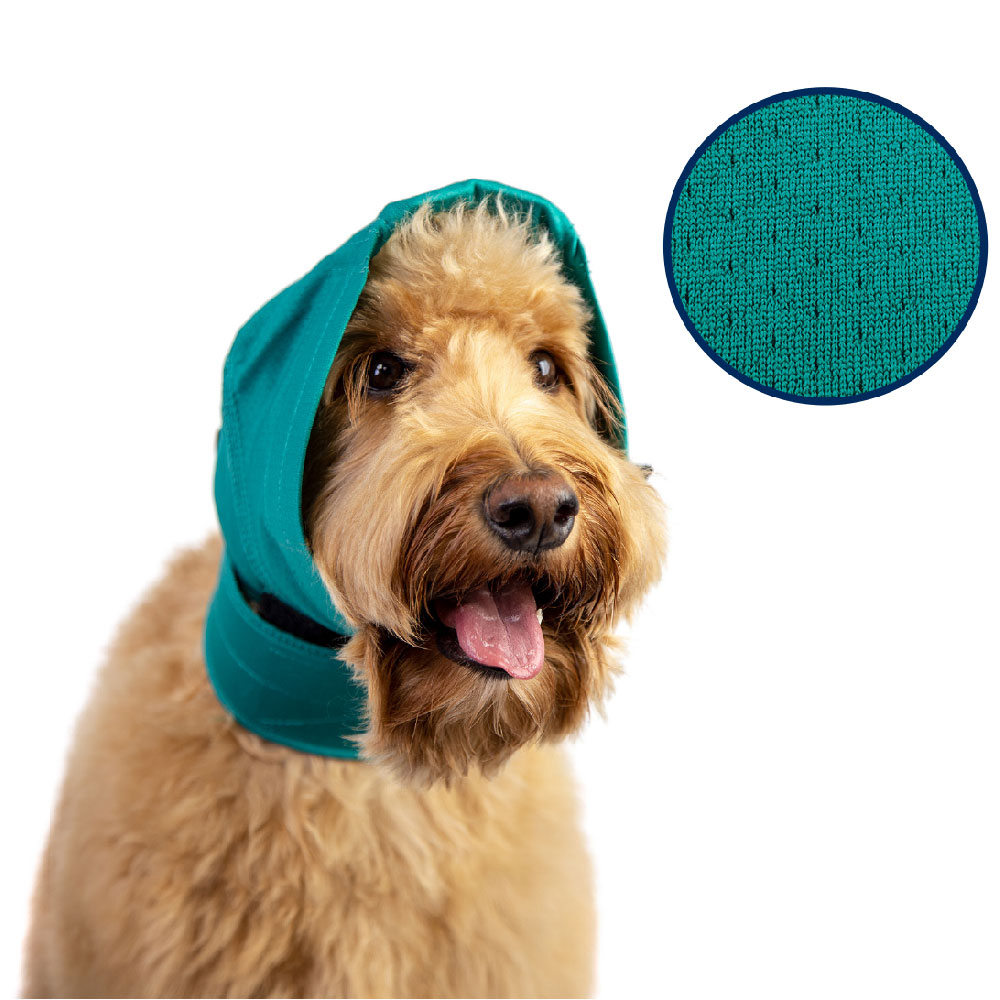 http://www.entirelypets.com - VetOne No Flap Ear Wrap, Green Pinpoint Mesh, Small / Medium, 7″ – 9″ / 15″ – 19″ 39.99 USD