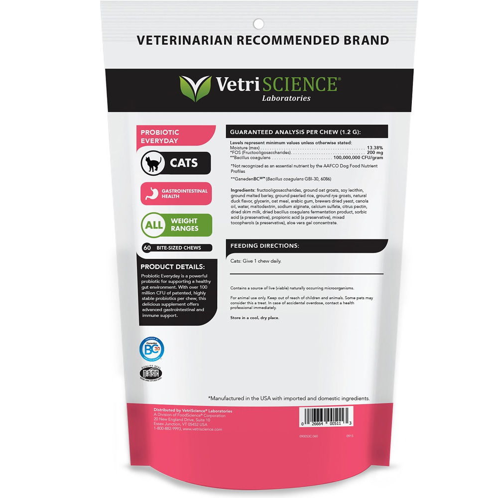 VETRI-SCIENCE-PROBIOTIC-FELINE-30-CHEWS