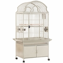 """Victorian Cage with Cabinet Base - Black (32""""x23""""x64"""")"""