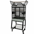 """Victorian Top Bird Cage with Plastic Base - Black (22""""x18""""x62"""")"""
