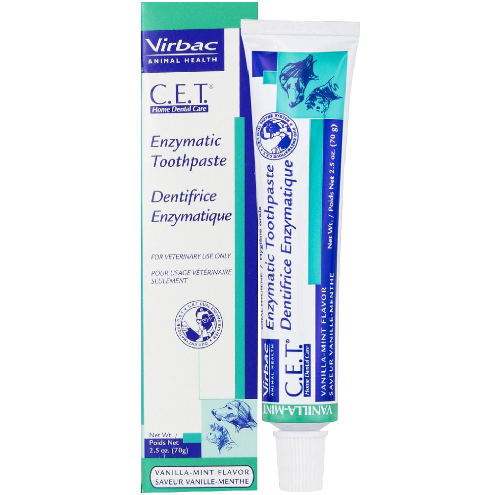 Image of Virbac CET Toothpaste for Dogs & Cats 2.5 oz (70 gm) - Vanilla-Mint