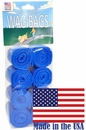 Wag Bags Refill Blue - Unscented (120 Bags)