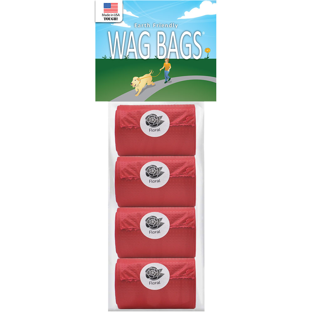 Wag Bags Refill Red - Floral (60 Bags) im test