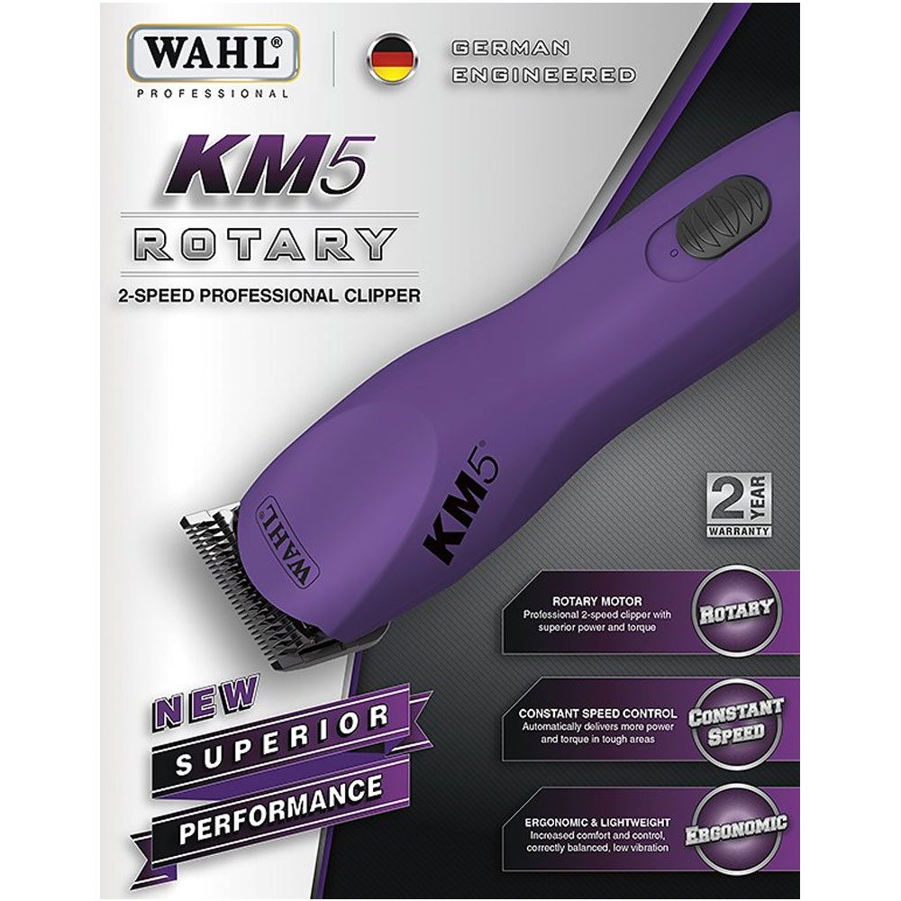 Wahl KM5 Rotary 2-Speed Professional Clipper - Purple - For Dogs - from Entirely Pets