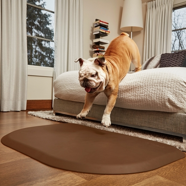 WELLNESS-ROUNDED-PETMAT-BROWN-SMALL