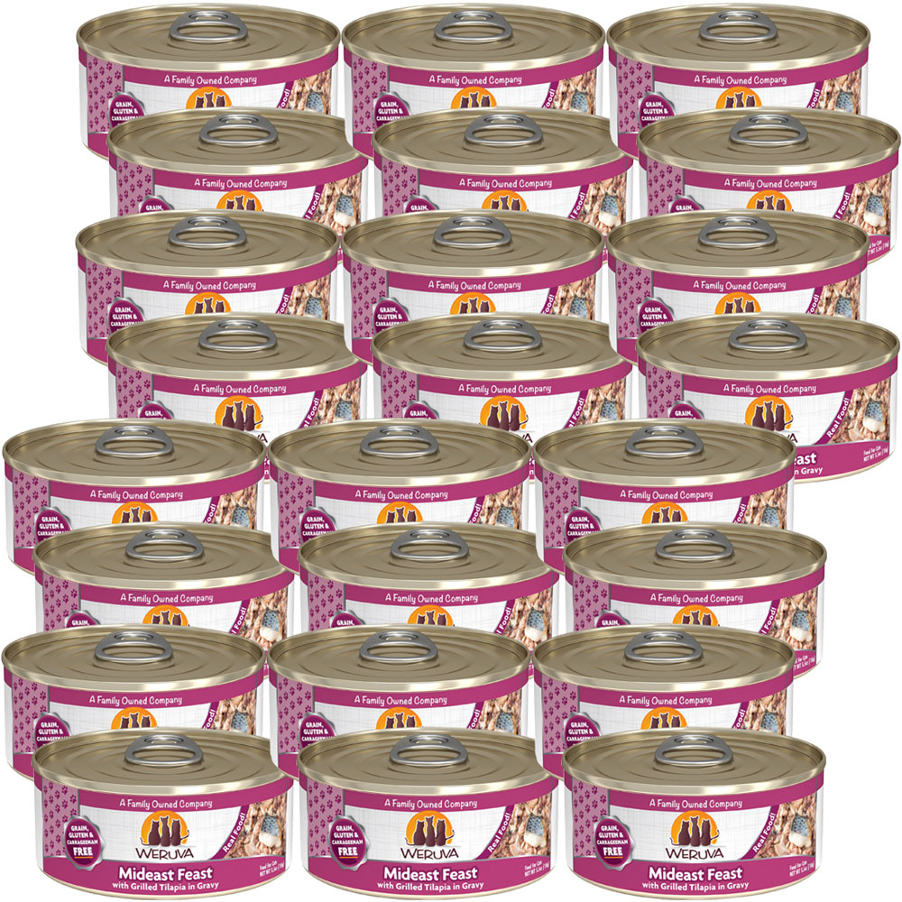 Weruva Mideast Feast with Grilled Tilapia Canned Cat Food (24x5.5 oz) im test