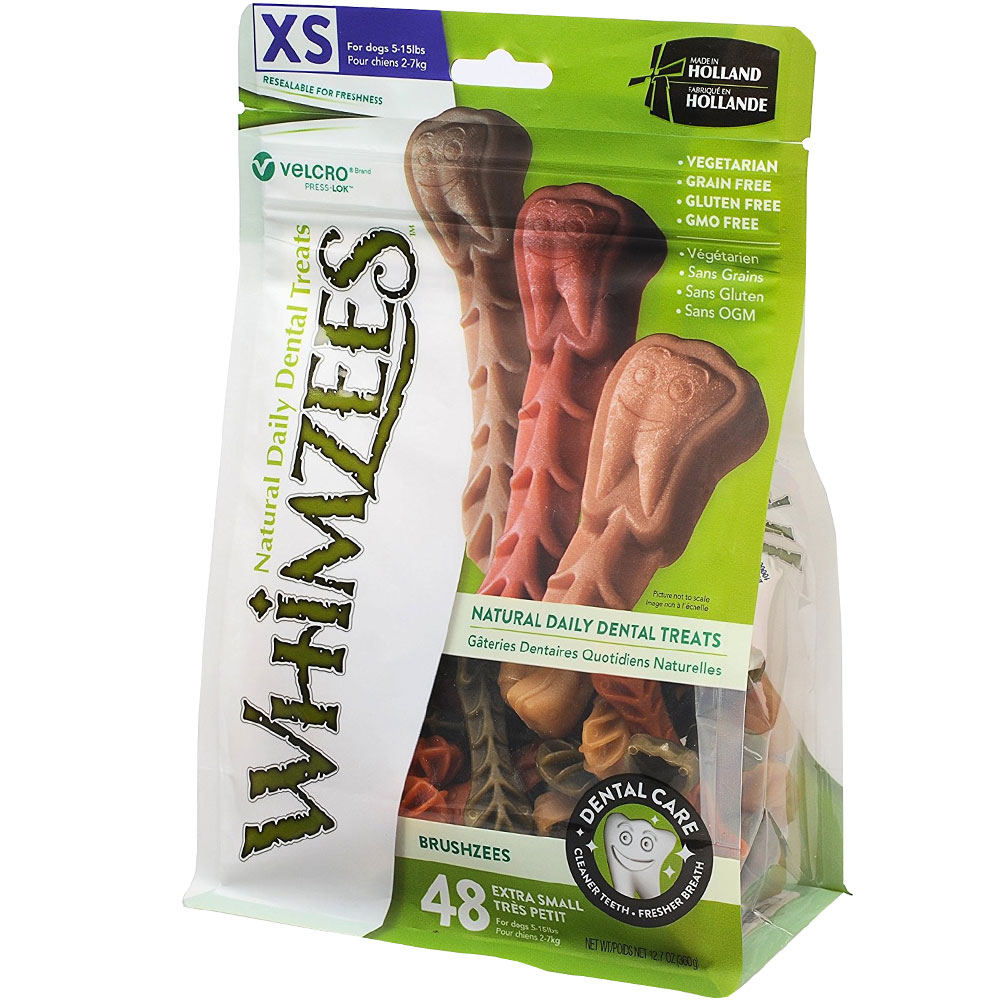 Whimzees Brushzees Dental Dog Treats - X-Small (48 count)