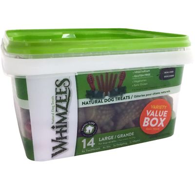 Whimzees Variety Value Box - Large (14 pieces)