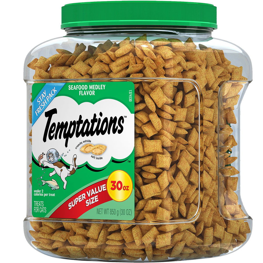 Whiskas Temptations Treats for Cats - Seafood Medley Flavor (30 oz) im test