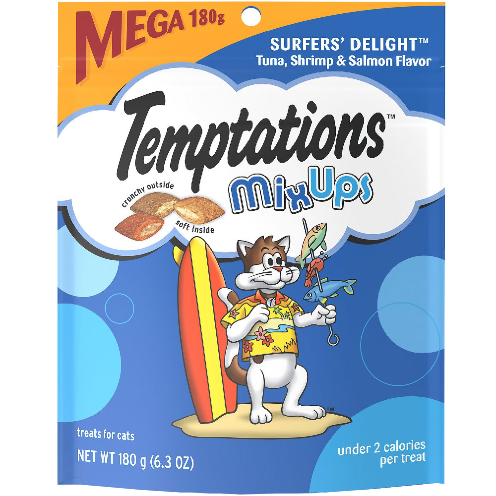 Whiskas Temptations Mixups Treats for Cats - Surfers' Delight (6.3 oz) im test