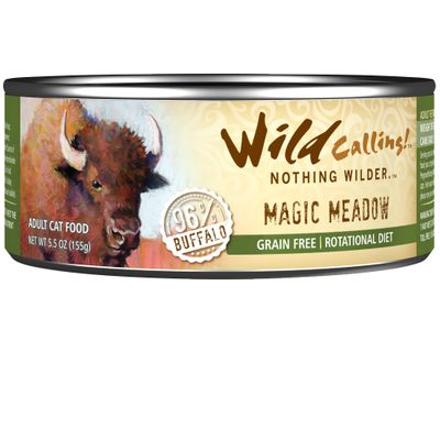 Wild Calling Magic Meadow Canned Cat Food - Buffalo (5.5 oz)