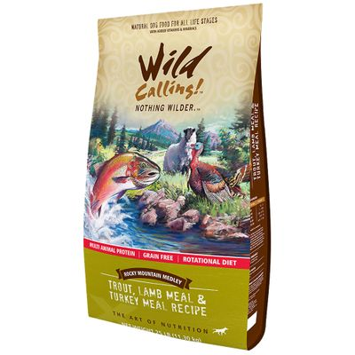 Wild Calling Rocky Mountain Dog Food - Trout/Lamb/Turkey (25 lb)