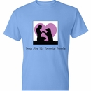 Women's T-Shirt - Dogs Are My Favorite People - Small (Carolina Blue)