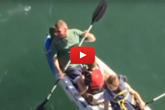 You'll Never Guess Who Decided To Go Kayaking With This Family!