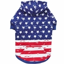 Zack & Zoey Distressed American Flag Hoodie - Small/Medium