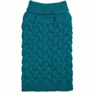 Zack & Zoey Elements Chunky Cable Sweater - Blue (Medium)