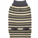Zack & Zoey Elements Derby Stripe Sweater - Green (Large)