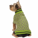 Zack & Zoey Elements Geometric Sweater - Green (Large)