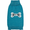 Zack & Zoey Elements Sequin Bone Sweater - Blue (XSmall)