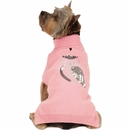 Zack & Zoey Elements Shimmer Owl Sweater - Pink (Large)