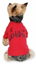 "Zack & Zoey Halloween Lil' Devil Tee Red - S/M (14"")"