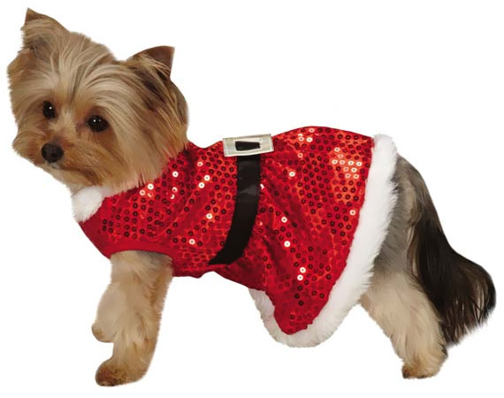 Zack & Zoey Mrs Claus Sequin Dress Red