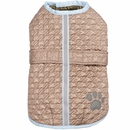 Zack & Zoey Quilted Thermal Nor'easter Coat - Almond (Large)