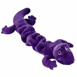 "Zanies Plush Bungee Geckos Dog Toy 16"" - Purple"