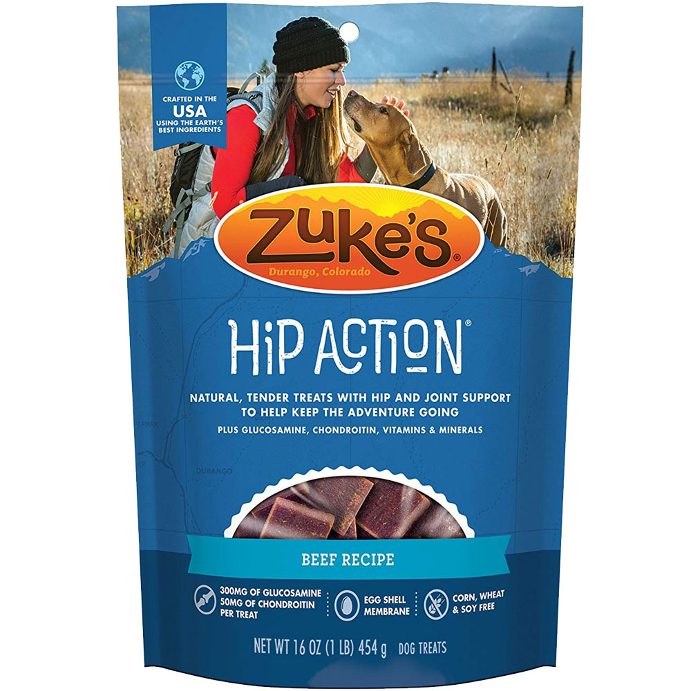 Image of Zuke's Hip Action with Glucosamine and Chondroitin - BEEF (1 lb)