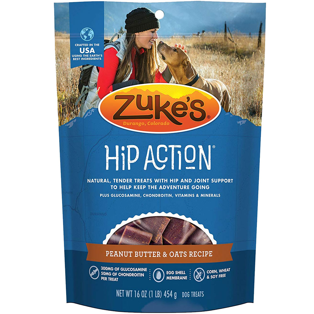 Zuke's Hip Action with Glucosamine and Chondroitin - PEANUT BUTTER (1 lb) im test