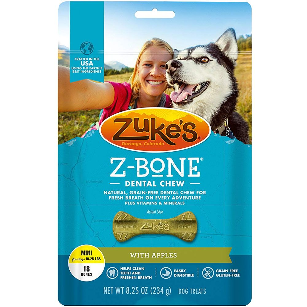 Package of zuke's dental chews