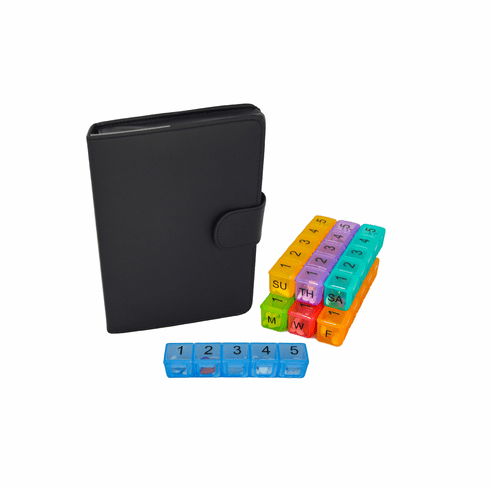 e-pill 5 Daily Doses x 7 Days |<br>Weekly Pill Organizer System</br>