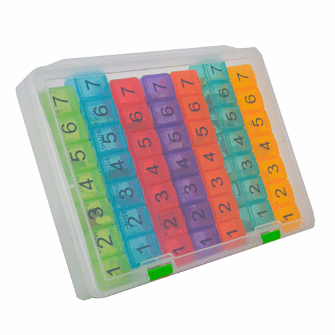 e-pill 7 Daily Doses x 7 Days |<br>Weekly Pill Organizer System</br>