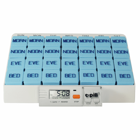 Large Pill Organizer with Reminder<br> 7 Day x 4 Compartments per Day