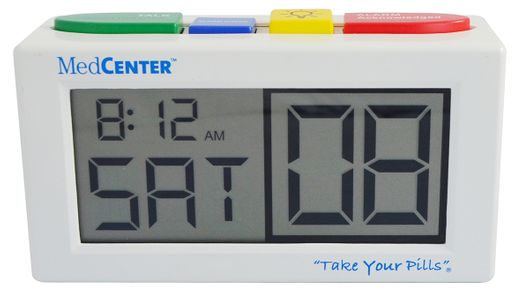 MedCenter Alarm Clock - Up to 4 Daily Alarms