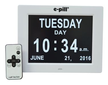 e-pill Calendar Day Clock -  up to 6 Daily Alarms