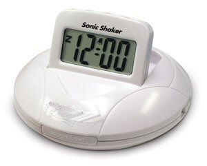 Sonic Shaker - Vibrating Portable Alarm Clock with One Daily Alarm