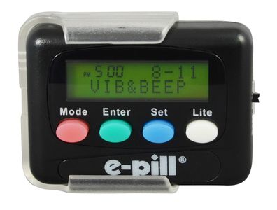 e-pill 12 Alarm Vibrating Pager  Medication Reminder