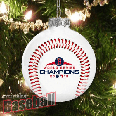 Boston Red Sox 2018 World Series Champions Glass Ball Ornament<br>LESS THAN 6 LEFT!