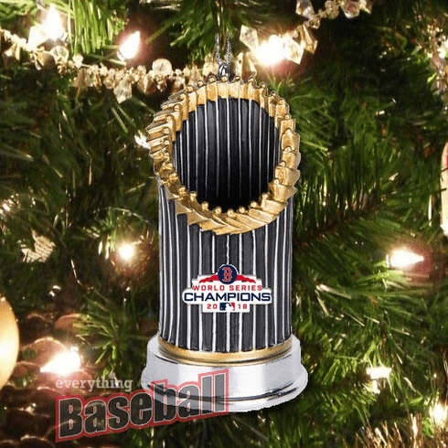 Boston Red Sox 2018 World Series Champions Resin Trophy Ornament<br>LESS THAN 4 LEFT!
