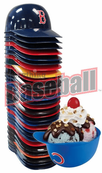 Pack of 25 Assorted Baseball Team 8oz Ice Cream Sundae Helmet Snack Bowls<br>OUT OF STOCK!