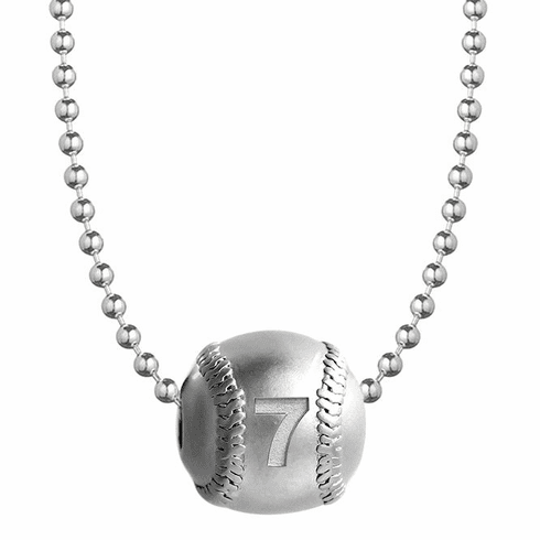 3D Number Baseball with Necklace
