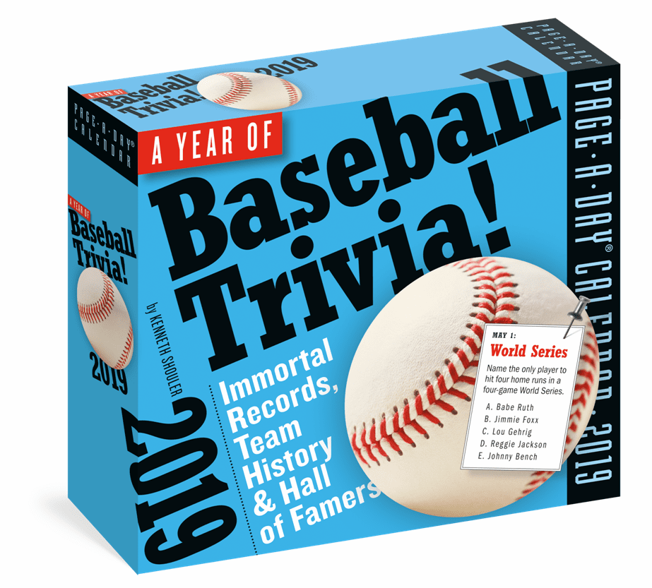 A Year of Baseball Trivia! Page-A-Day Desk Calendar 2019<br>LESS THAN 6 LEFT!
