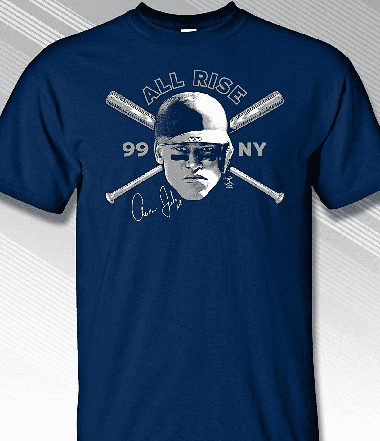 Aaron Judge New York Crossed Bats T-Shirt<br>Short or Long Sleeve<br>Youth Med to Adult 4X