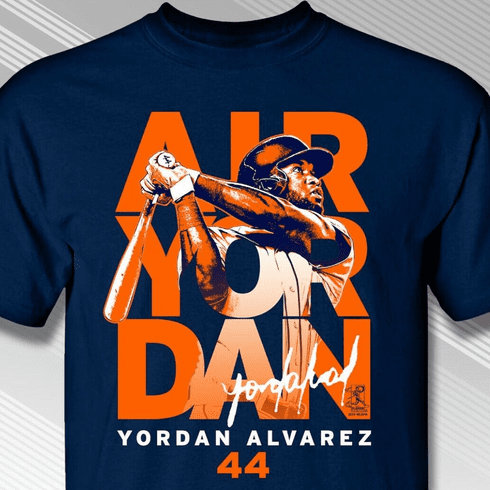 Air Yordan Alvarez Houston T-Shirt<br>Short or Long Sleeve<br>Youth Med to Adult 4X