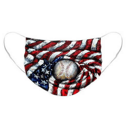 All American Baseball Pleated Face Mask