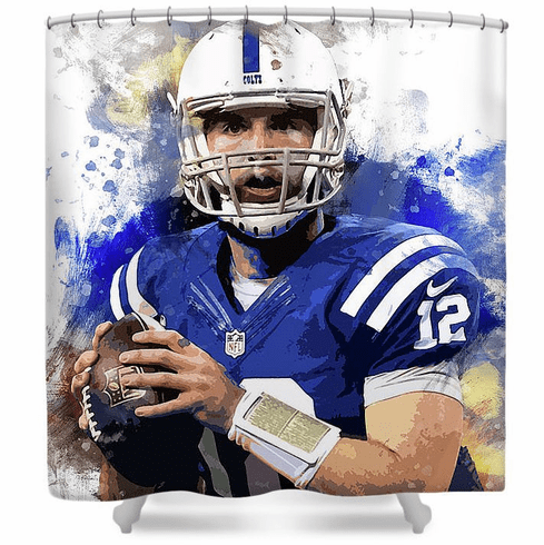 Andrew Luck Indianapolis Colts Shower Curtain