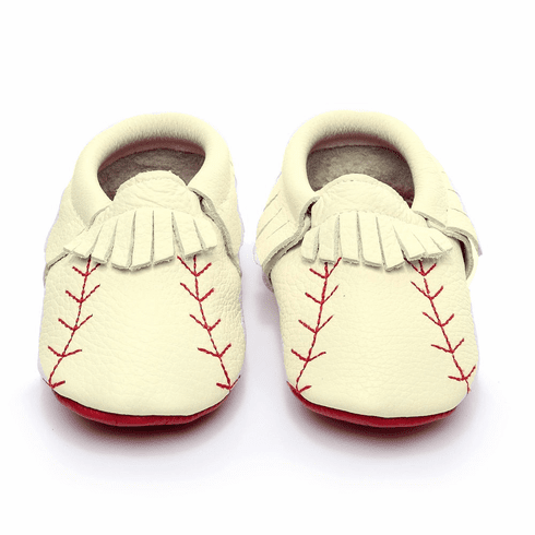 Baby Baseball Leather Moccasins First Walker Shoes