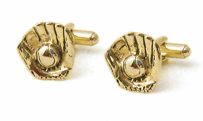 Ball in Glove Gold Cufflinks