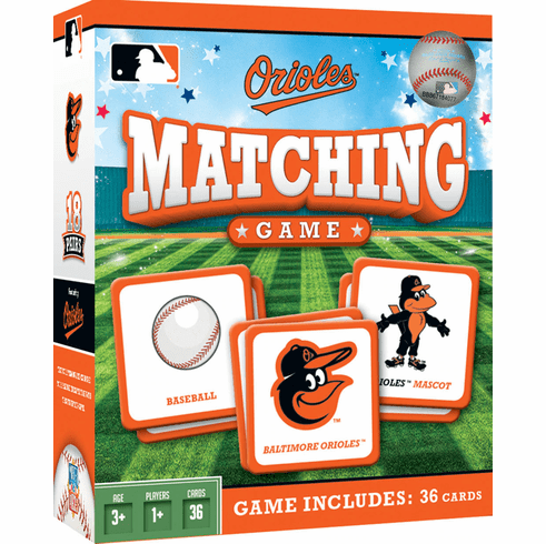 Baltimore Orioles Baseball Matching Game<br>ONLY 3 LEFT!